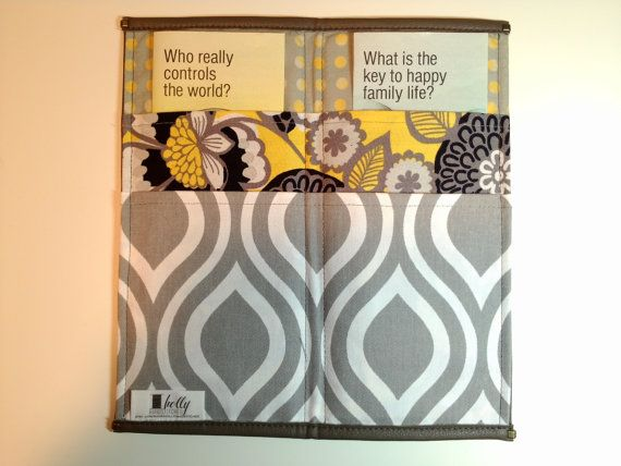 Tract Holder by HollyHandstitched on Etsy, $16.00