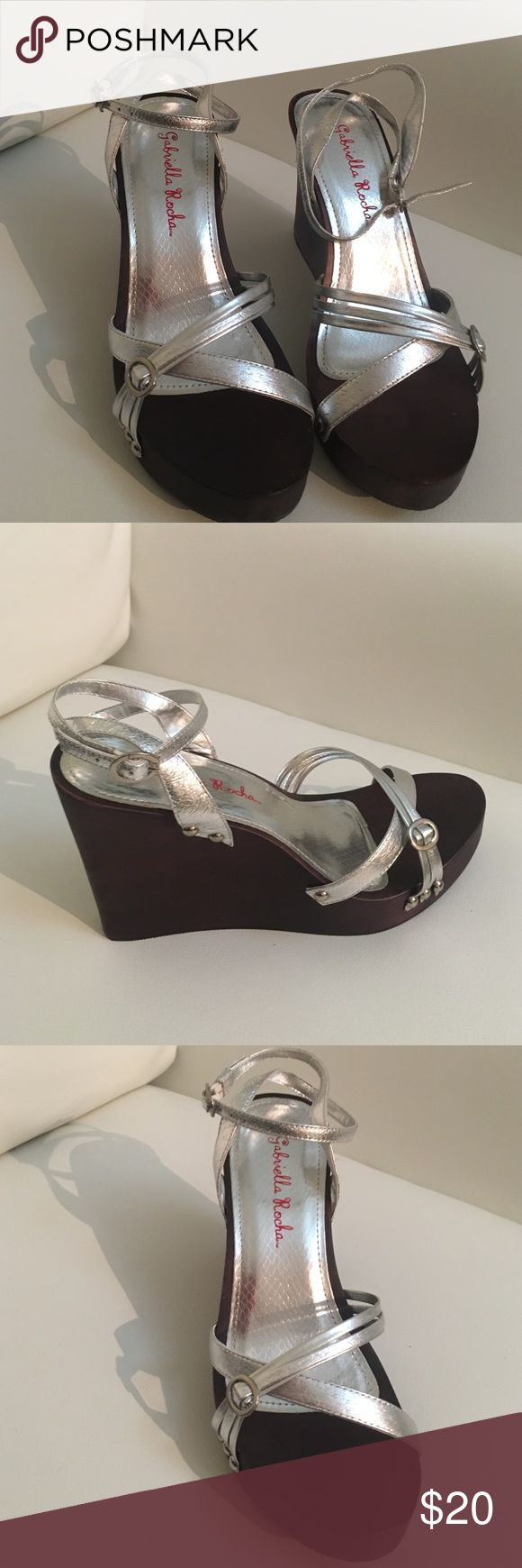 Gabriella Rocha Silver Wedge Sandal. Brand new, still in box. Box is slightly dirty that's about it! 😊 Gabriella Rocha Shoes Wedges