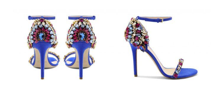 sandali blu gioiello