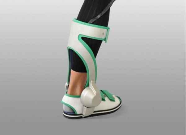 Wearable boots sense heel contact with the ground to process and deliver boosted strength and balance. Designed for those recovering from ankle injury or to assist the elderly to remain mobile.
