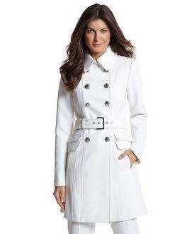 White Womens Coats - Coat Nj
