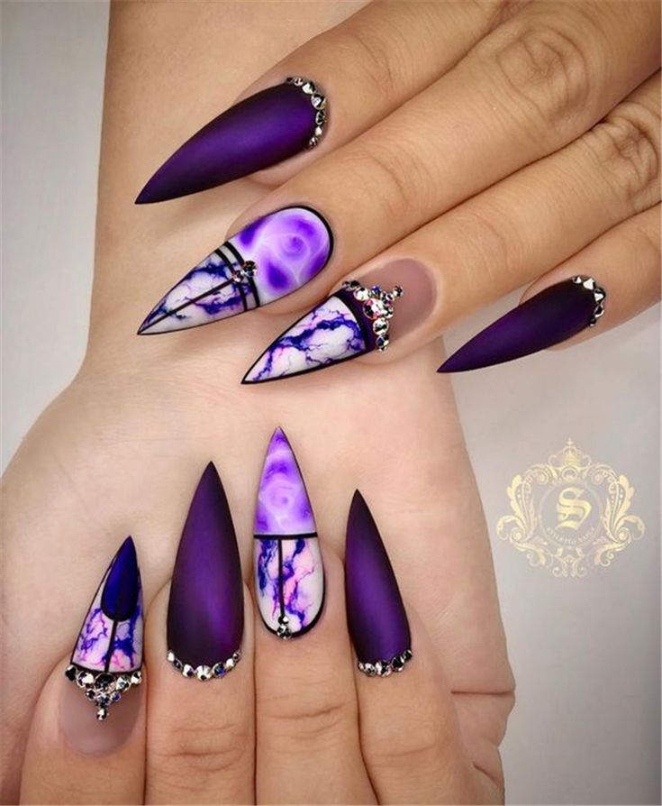 Trend Stiletto Nails in 2019; Stiletto Coffin Nails; Stiletto Nails Designs; Nai…