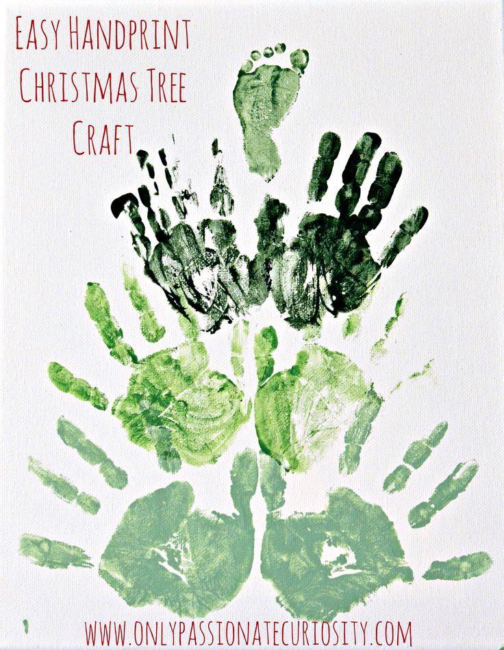 Easy Handprint Christmas Tree Craft for Kids