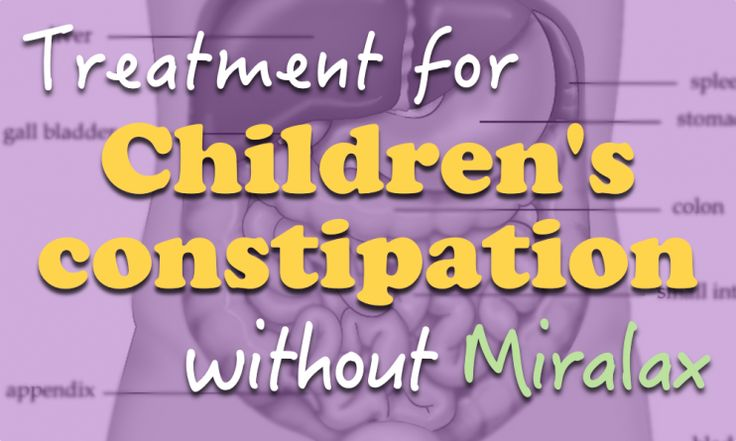 effective treatment against constipation in children remedies