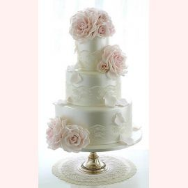 """Свадебный торт """"Розовые розы"""""""