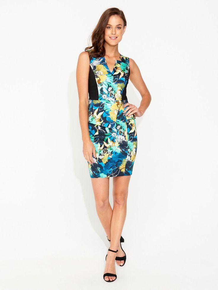 Image for Colour Burst Floral Peplum Dress from Portmans $119
