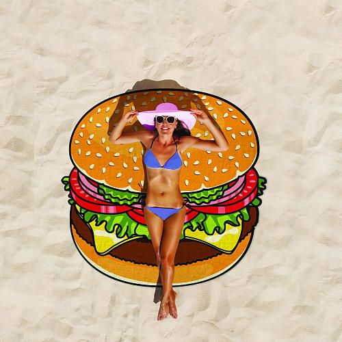 Big Mouth Inc Gigantic Burger Beach Blanket 5 Feet Big