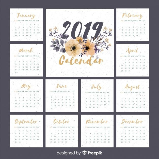 Download Lovely Watercolor 2019 Calendar Template For Free Calendar Template Calendar 2019 Printable Calendar