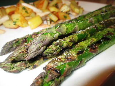 En verden af smag!: Grillede Asparges med Olivenolie og Salt