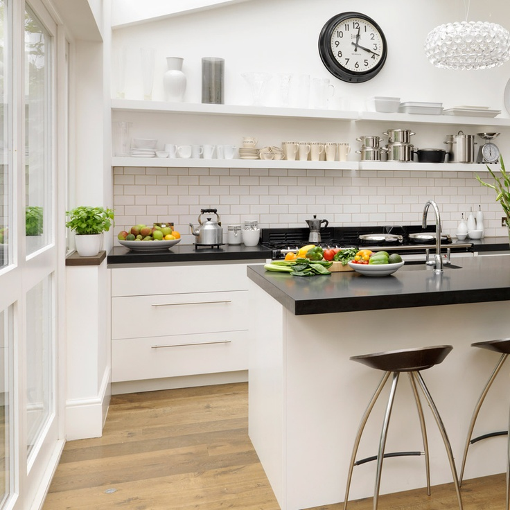 White Kitchen Cabinets And Countertops: 1000+ Ideas About Black White Kitchens On Pinterest