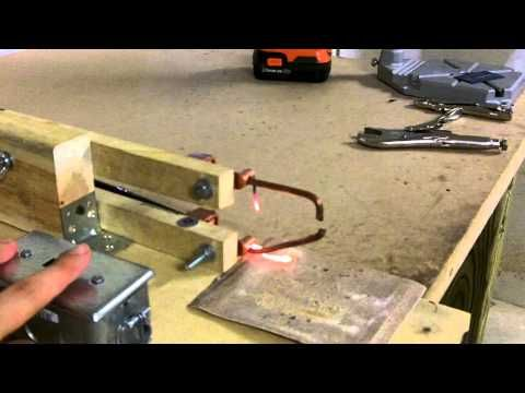 how to make a spot welder from a microwave