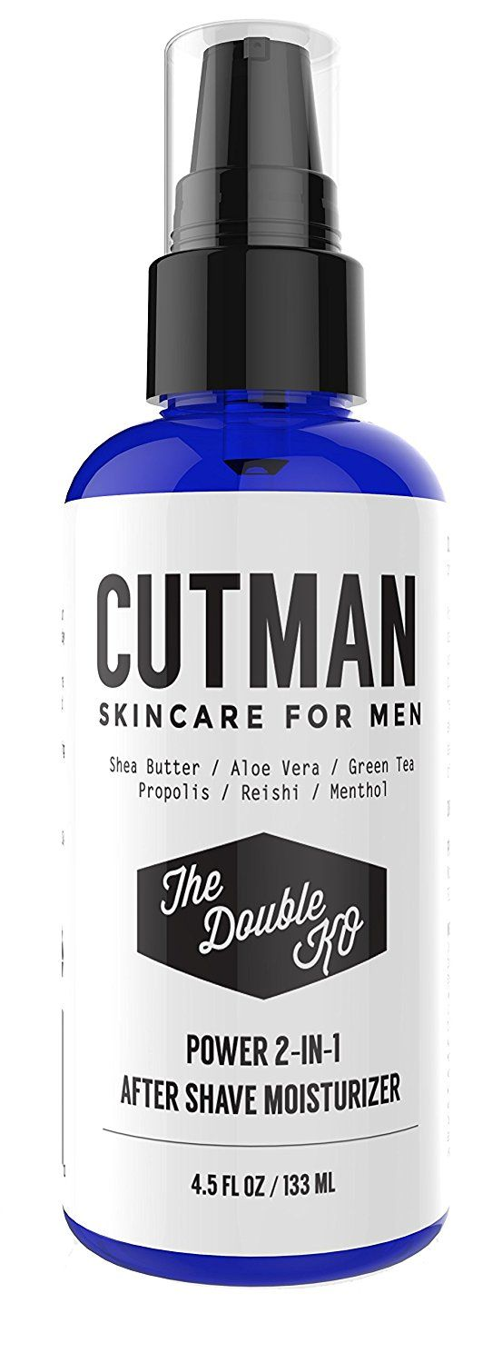 Cutman After Shave Balm   Face Moisturizer For Men - 4.5 Oz Of Double KO - Menthol and Caffeine Soothes and Recharge - Attack Ingrown Hairs - Defends Dry Skin - Organic 2 In 1 Anti-Aging Aftershave * Click image to review more details.