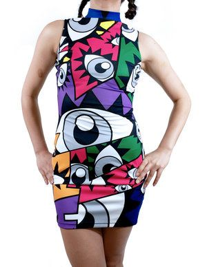 """""""Je Te Vois""""/""""I see you"""" Bodycon Dress"""