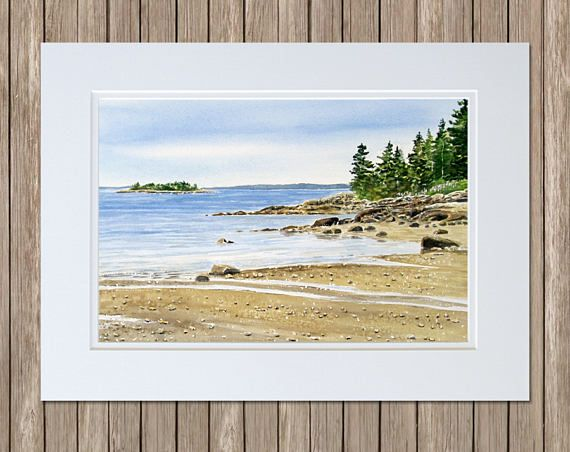 Curtis Cove East Blue Hill Maine by #Downeastwatercolors