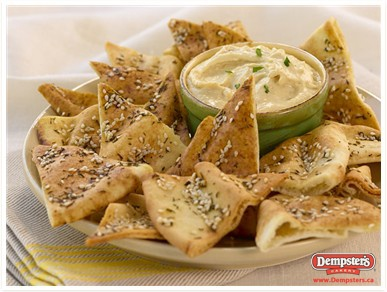 Crispy Pita and Hummus from www.Dempsters.ca
