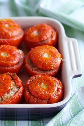 Q.C.ne: Pomodori ripieni di riso alla romana Stuffed tomatoes with rice