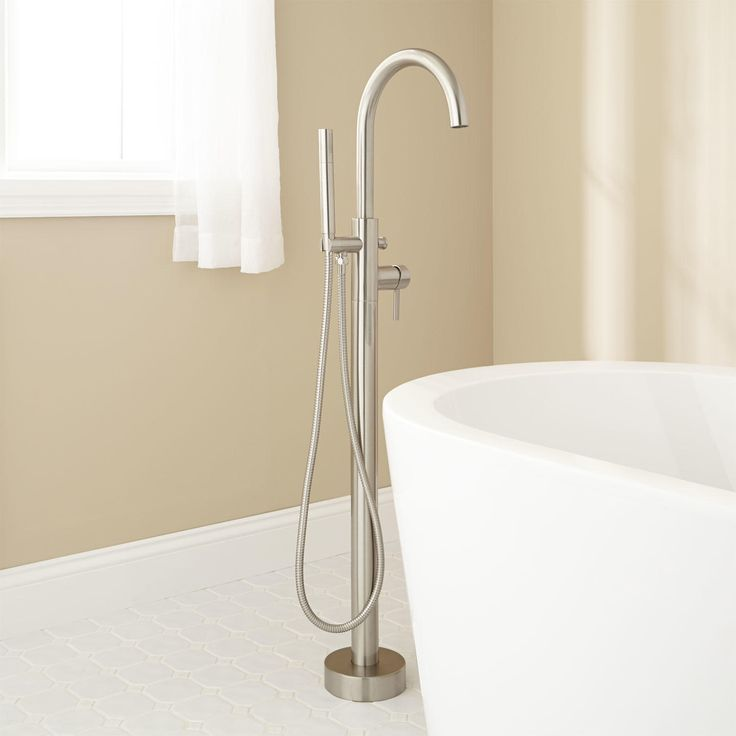 Carissa Freestanding Tub Faucet and Hand Shower - Tub Faucets - Bathroom