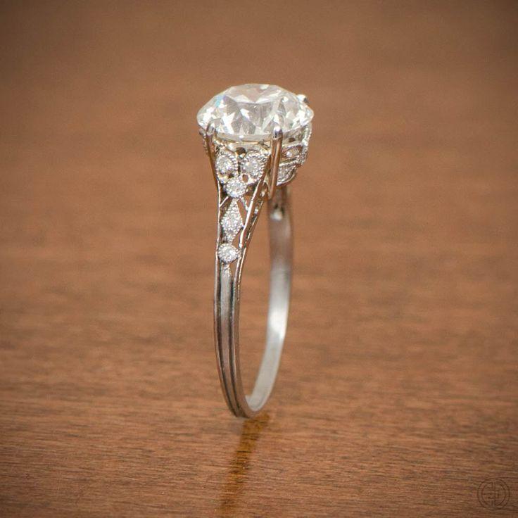 Rare Edwardian Engagement Ring - Antique Engagement Ring. Circa 1910 by EstateDiamondJewelry on Etsy https://www.etsy.com/listing/254539345/rare-edwardian-engagement-ring-antique