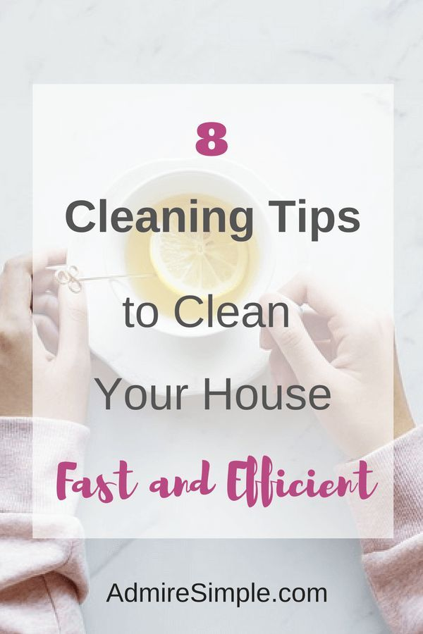 How To Clean Your House Fast And Efficient Cleaning Pinterest Hacks