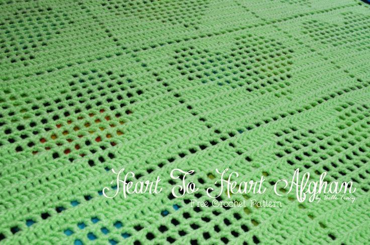 Heart to Heart - free crochet pattern baby afghan - crochettreasures