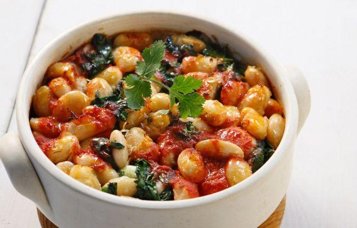 Γίγαντες με χόρτα φούρνου - Συνταγές - Νηστίσιμες συνταγές   γαστρονόμος