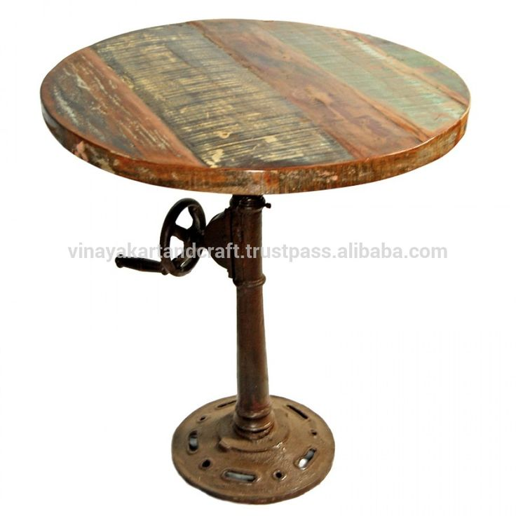 French Vintage Industrial Look Coffee Table, Cafetaria Table
