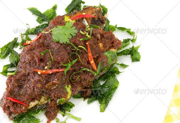 Realistic Graphic DOWNLOAD (.ai, .psd) :: http://jquery-css.de/pinterest-itmid-1006639850i.html ... Deep fried fish with chilli sauce ...  chili, cook, crisp, delicious, flavor, food, fry, pepper, sauce, seafood, snapper, spice, spicy, taste, tasty, thai, tomato, vegetable, white  ... Realistic Photo Graphic Print Obejct Business Web Elements Illustration Design Templates ... DOWNLOAD :: http://jquery-css.de/pinterest-itmid-1006639850i.html