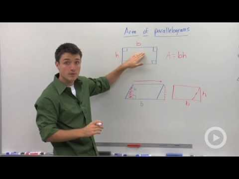 how to solve a parallelograms area