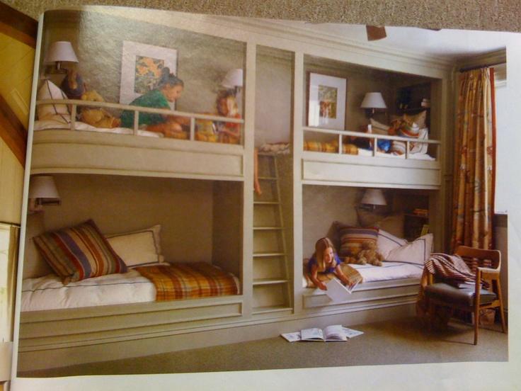 Bunk beds built into the wall Design Pinterest