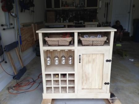 Shanty Console turns Wine Cabinet | Do It Yourself Home Projects from Ana White