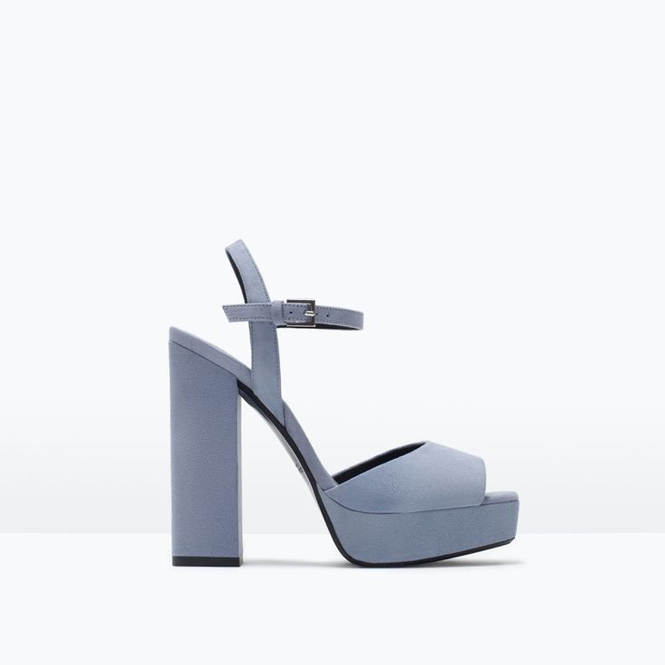 Image 1 of LEATHER PLATFORM SANDALS from Zara