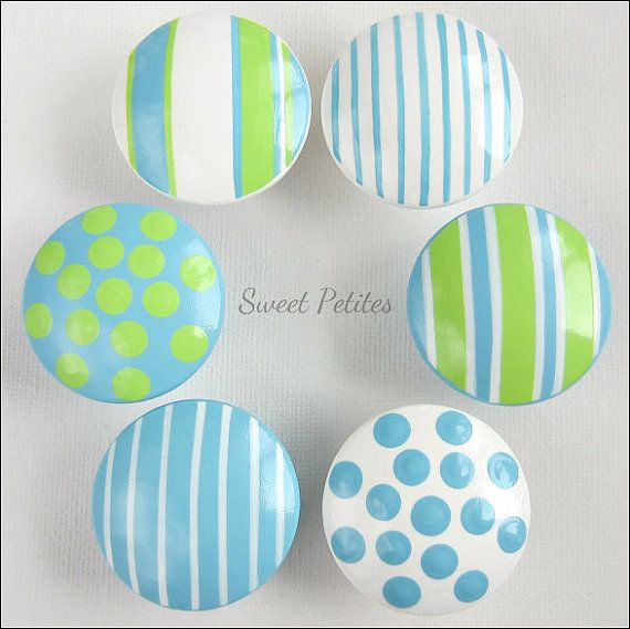 Hand Painted Knob Dresser Drawer Textures by SweetPetitesBoutique, $6.00