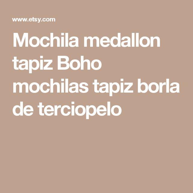 Mochila medallon tapiz Boho mochilas tapiz borla de terciopelo