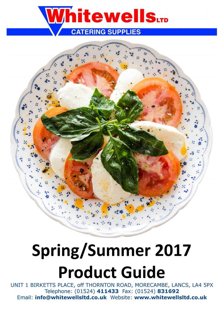 Whitewells Catering Supplies Food Product Guide Sprint-Summer 2017