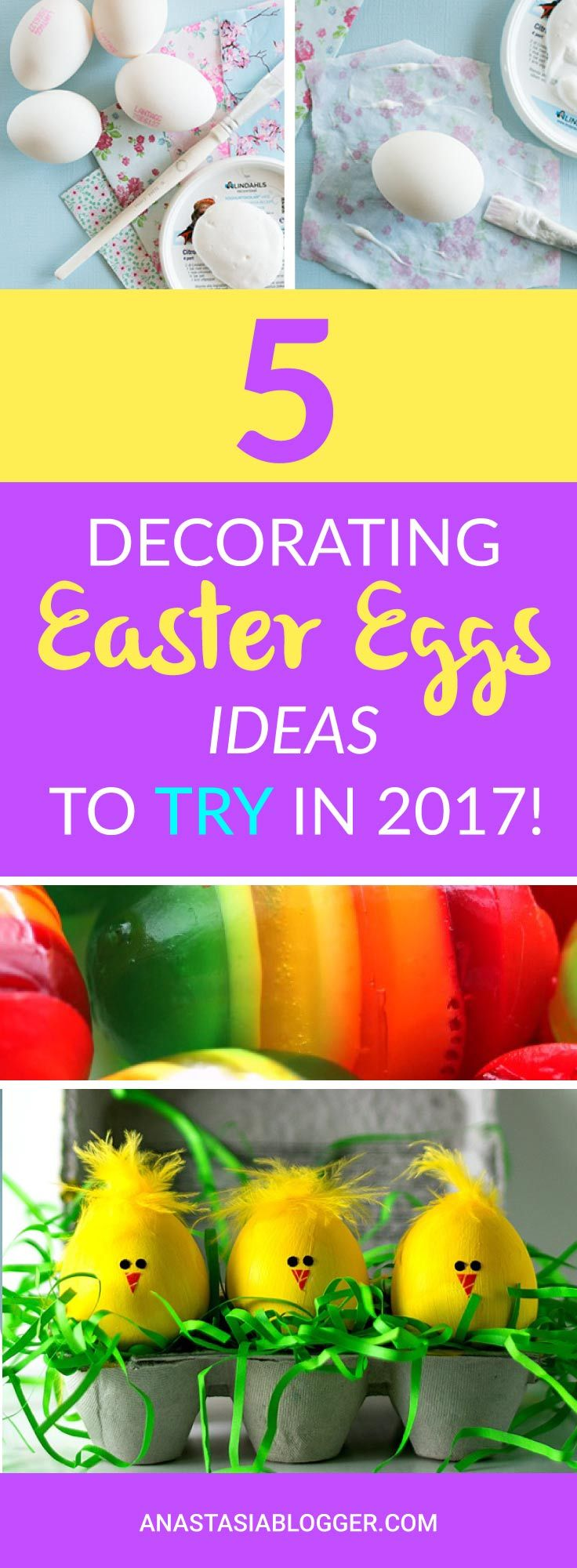 Check out my TOP 5 Decorating Easter Eggs Ideas to Try this year! Coloring Easter Eggs can be an adventure for all the family! Make your Easter Eggs Hunt in 2017 a Unique experience! Easter Eggs DIY tutorials and photos. Save Easter Eggs Decoration Ideas for the Day to Come!