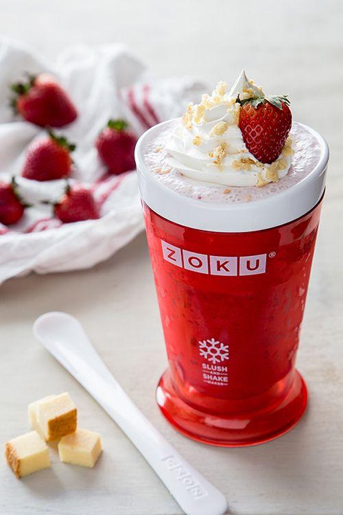 A frozen remix of a classic dessert: Strawberry Shortcake Slush.