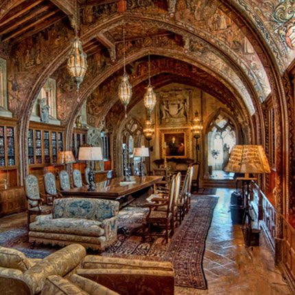 Hearst Castle's third floor consists of W. R. Hearst's private quarters, in addition to some of his most treasured collections and sacred objects. Wander through the suite's two bedrooms and private sitting room that he and Marion Davies occupied, after exploring the soaring and mysterious church-like Gothic Study.