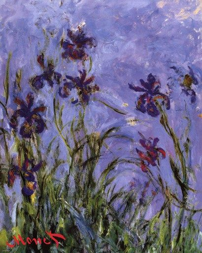 Iris Fine-Art Print by Claude Monet at UrbanLoftArt.com