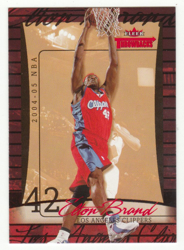Elton Brand # 47 - 2004-05 Fleer Throwbacks Basketball