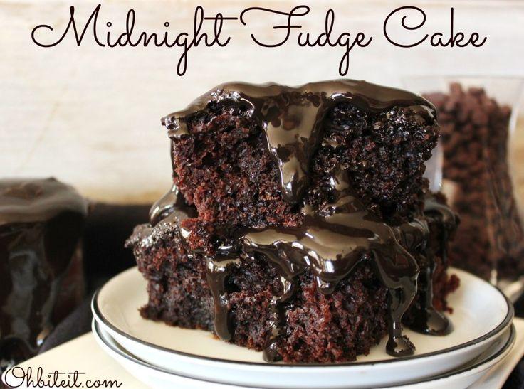 Minuit Gâteau fudge!
