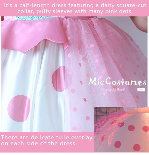 Toy Story Adult Little Bo Peep Cosplay Dress Costume with ...