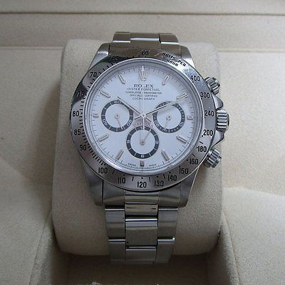 Rolex Daytona 16520 White Dial Zenith Movement Stainless Steel Pre-owned