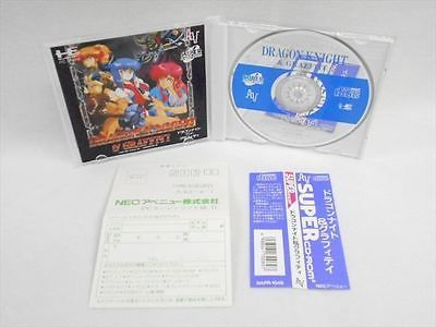 Dragon Knight and Graffiti MINT Condition * 0213 PC-Engine SCD Japan Game pe