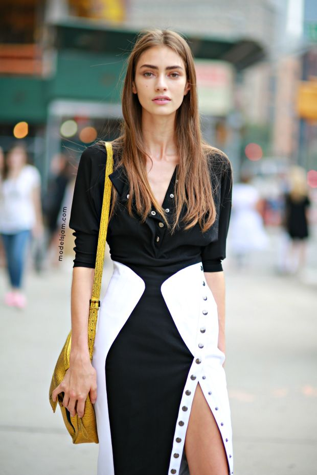 Marine Deleeuw after Calvin Klein, New York, September 2013