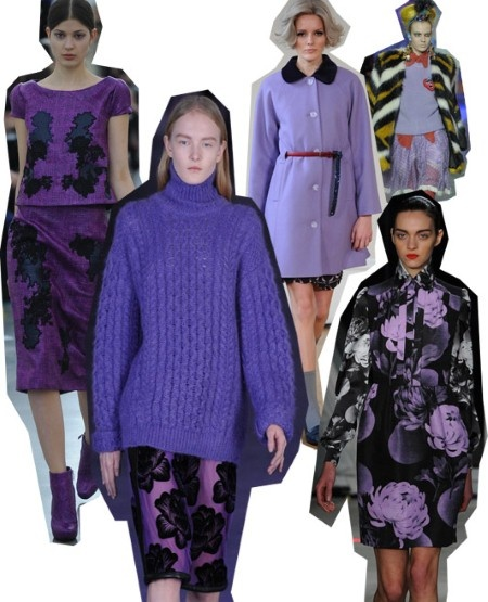 Lavender. London Fashion Week trends autumn/winter 2012