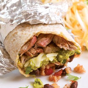 You've probably had a Steak Burrito at one of those fast food Mexican places, right? Now you can make them at home and they are so much better! Mix a little cilantro and lime into the salsa rice if you want.