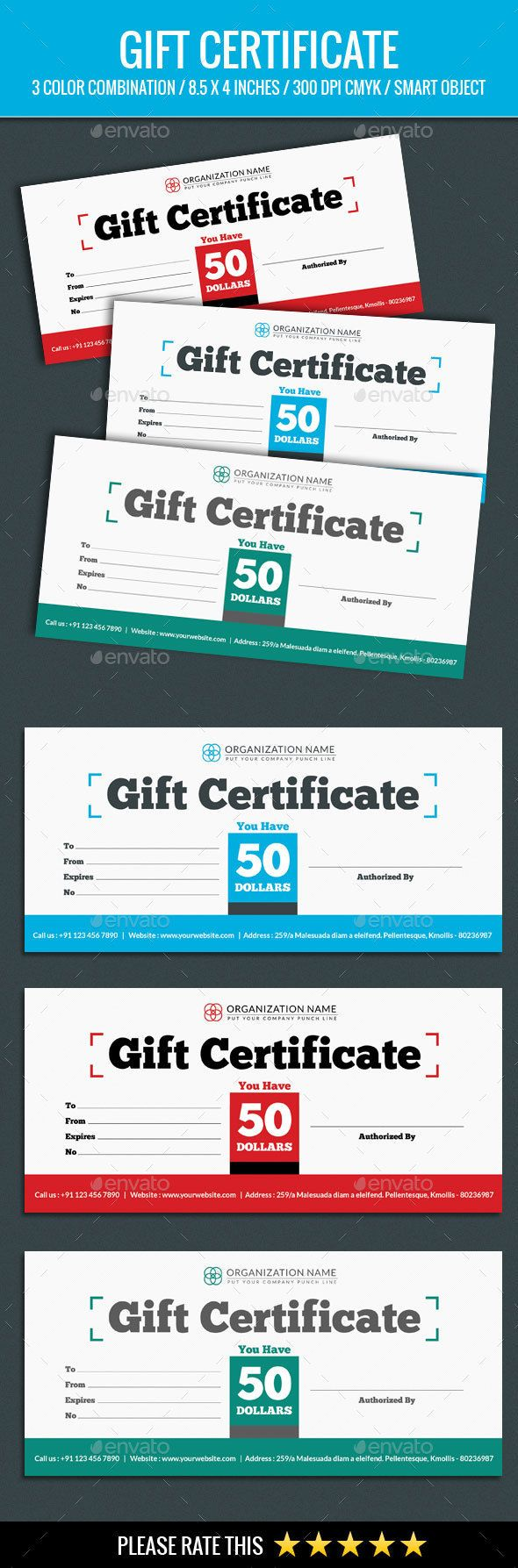 The 26 best gift voucher design images on pinterest gift voucher gift certificate template psd download here httpgraphicriver yelopaper Choice Image