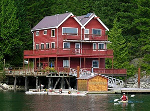 Discovery Lodge, Quadra Island. Staging for Surge Narrows.