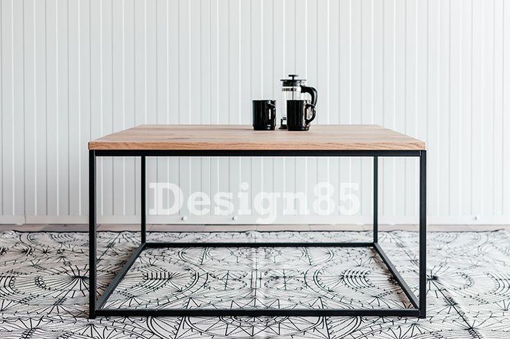 Prachtige salontafel met stalen frame en tafelblad van eikenhout.  Gratis bezorgd in Nederland, bestel snel via https://www.design85.nl/salontafel-tropisch.html