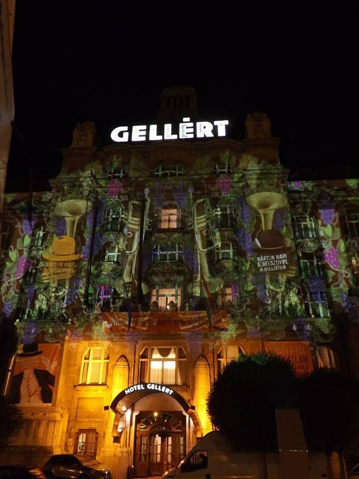 Ha november, akkor Márton napi #libalakoma és Danubius Hotel Gellért Borfesztivál - #NightProjection #fényfestés